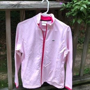 Lacoste Women's Zip Front Sweatshirt - Size 46 -Lg